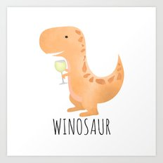 Winosaur | White Wine Art Print