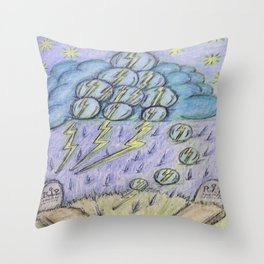thunder strikes Throw Pillow