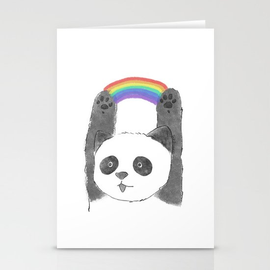 panda beam Stationery Cards