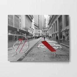 Pedestrian Crossing - Downtown NYC Metal Print