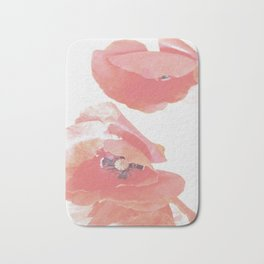 Pastel Poppies Bath Mat