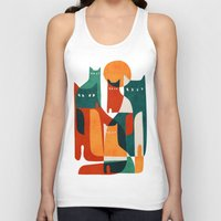 family Tank Tops featuring Cat Family by Picomodi