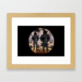 sky duo Framed Art Print