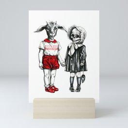 My cute and dark BFF Mini Art Print