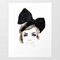 bows Art Prints featuring Bows by SoulDeep
