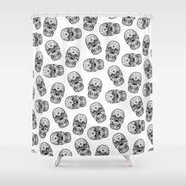 Skull - Día de Muertos / Day of the Dead Shower Curtain
