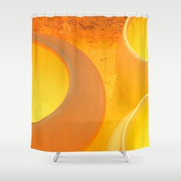 Pots Cool Inside A Kiln Shower Curtain