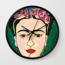 Frida Khalo Portrait Wall Clock