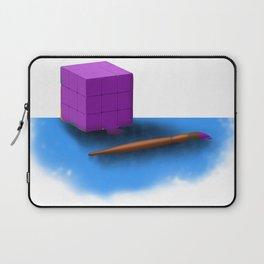 Solving rubik's cube Laptop Sleeve