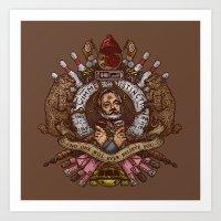 murray Art Prints featuring Murray crest by Rodrigo Ferreira