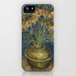 Vincent Van Gogh - Imperial Fritillaries in a Copper Vase iPhone Case