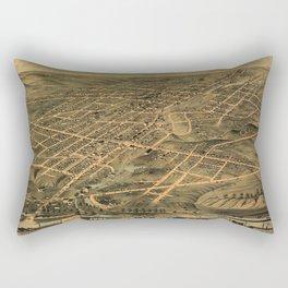 Map Of Akron 1870 Rectangular Pillow