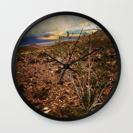 Storm Moving In Over Death Valley Wall Clock