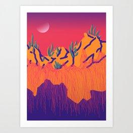 Dusky Strangelands Art Print