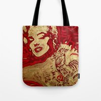 sriracha Tote Bags featuring Some Like It Hot by Matt Pecson