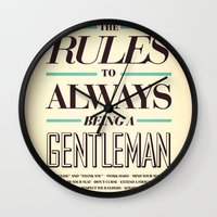 gentleman Wall Clocks featuring Gentleman! by ALLGOLD Creative