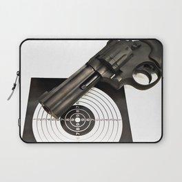 Air gun pistol revolver and a target Laptop Sleeve