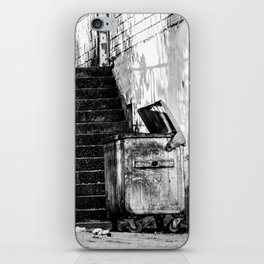 Garbage dumpster on the street iPhone Skin