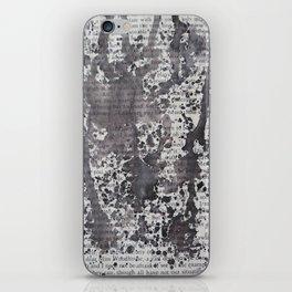 Black Splatter Text iPhone Skin