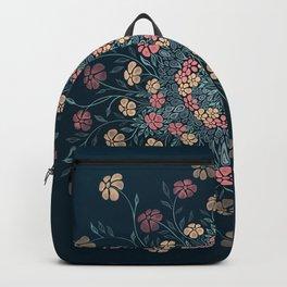 Pretty Pastels Dark Floral Watercolors Backpack