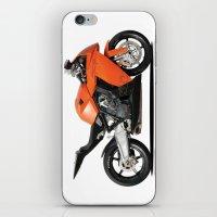 motorbike iPhone & iPod Skins featuring KTM RC8 motorbike by cjsphotos