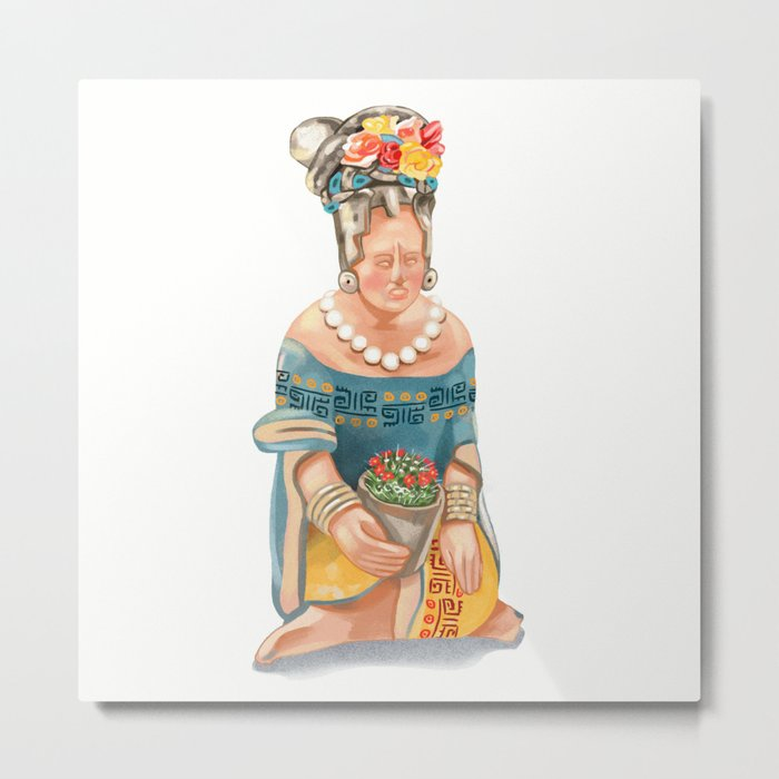 Mesoamerican Seated Woman Metal Print