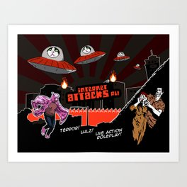 Internet Attacks RL! Art Print