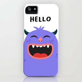 Hello Monster iPhone Case