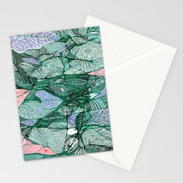 Drops in the Green Cell  Stationery Cards