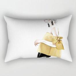 Fashion Illustration by Elina Sheripova Rectangular Pillow