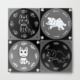 Cat-n-Fish! Metal Print