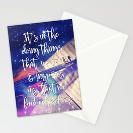 Violin Dream • Find Self Quote • Do What You Love Stationery Cards