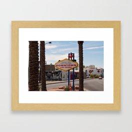 Downtown Las Vegas Framed Art Print