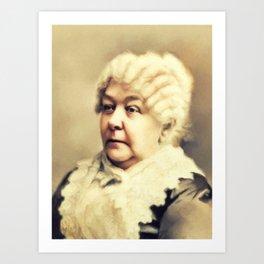 Elizabeth Cady Stanton, Suffragette Art Print