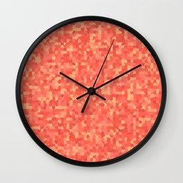 Geometric pattern with colorful triangles and squares Wall Clock