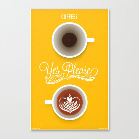 Yes Please Canvas Print