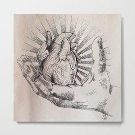 Take my heart. Metal Print