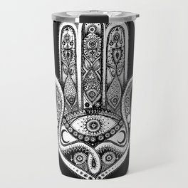 Hand of Fatima Illustration Travel Mug