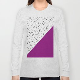 Geometric grey and purple design Long Sleeve T-shirt