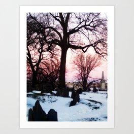 Boston Cemetary Art Print