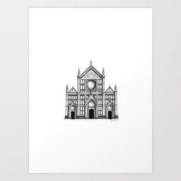 Basilica Di Santa Croce - Firenze Art Print