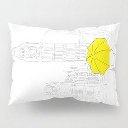 Yellow Umbrella Girl in London Pillow Sham