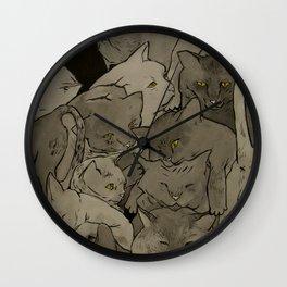 Cats & More Cats Wall Clock