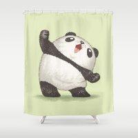 panda Shower Curtains featuring Panda by Toru Sanogawa