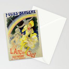 Vintage poster - The Rainbow Stationery Cards