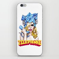 telephone iPhone & iPod Skins featuring Telephone by Denda Reloaded