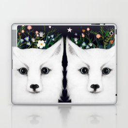 white fox Laptop & iPad Skin