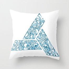 Blue Tribal Throw Pillow