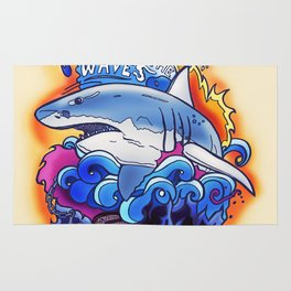 King of the Waves Rug