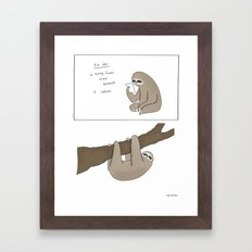 Sloth To-Do List  Framed Art Print